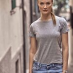 Basic Rundhals T-Shirt für Damen